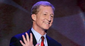 Tom Steyer, Billionaire Leftist. Unlike the Koch Brothers, his name is not on hospitals or concert halls, just big checks to Radical Dems.