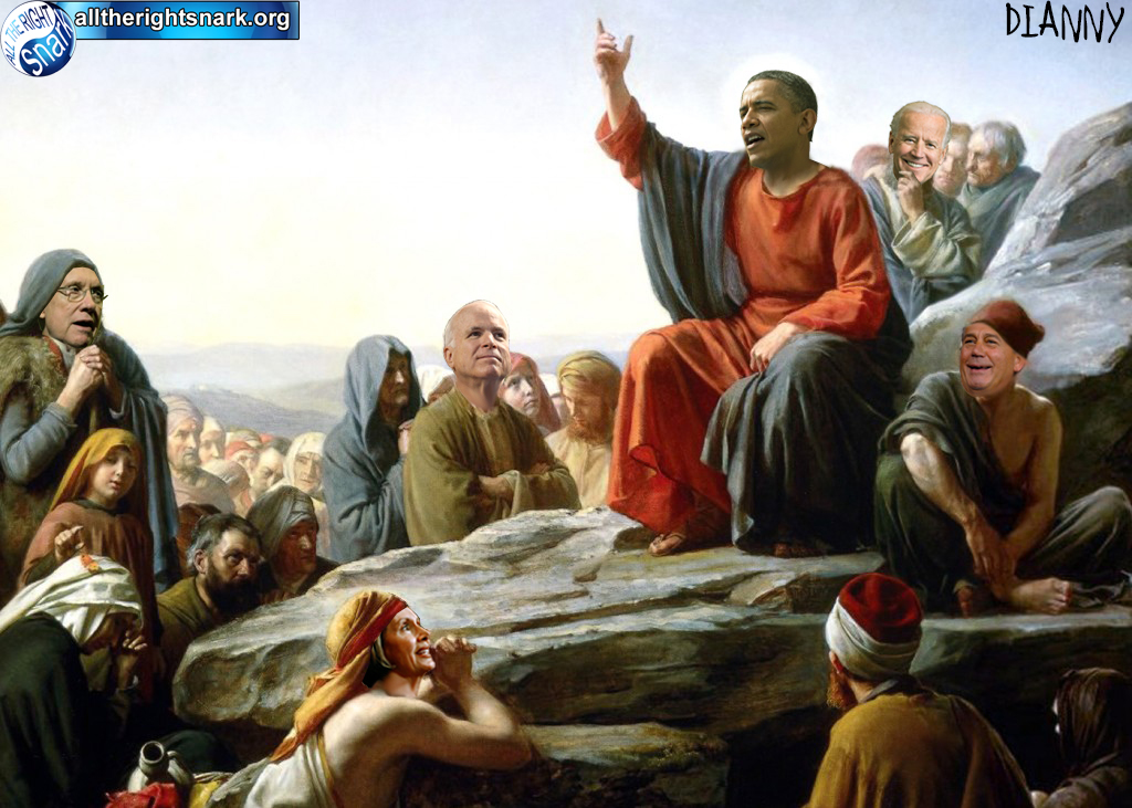 Barack's Sermon On Cap Hill