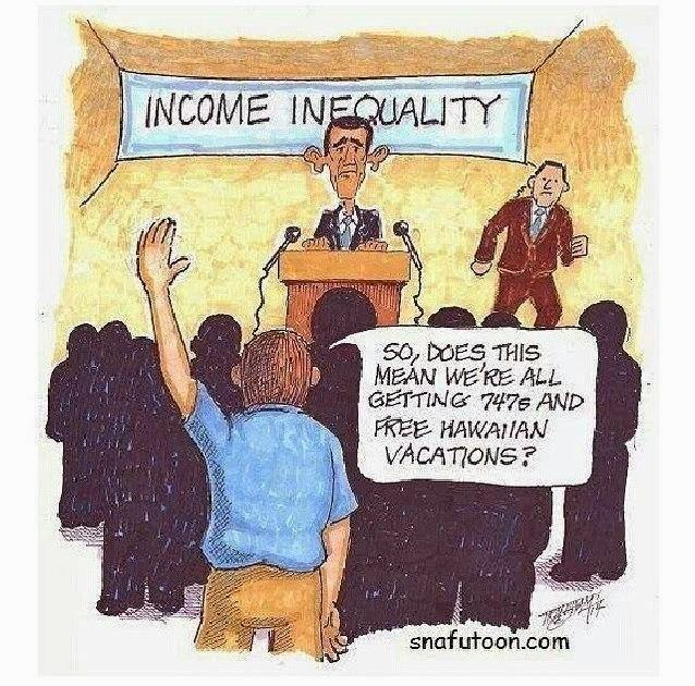 "Income Equality=One more suicidal ""Right"" from the Left"