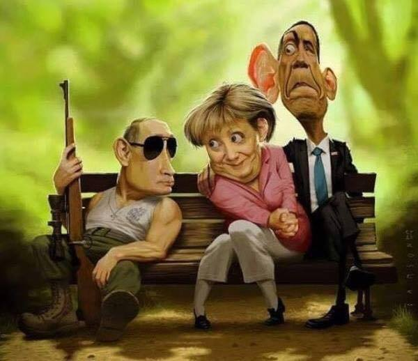 Putin, Merkel, Obama. What a world it is when the KBG guy comes out looking like the best bet.