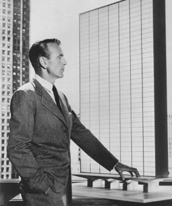 "Gary Copper as individualist Howard Roark in film version of Ayn Rand's ""The Fountainhead."""
