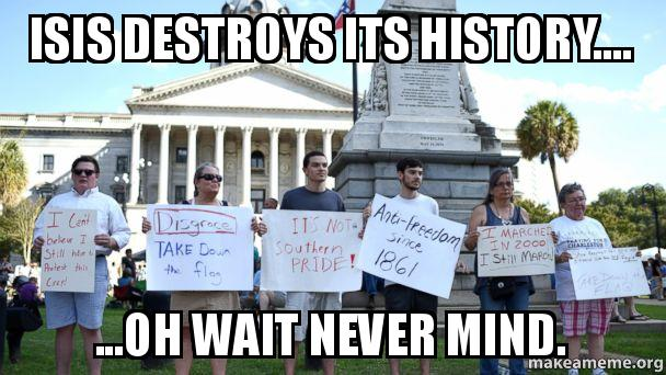Erasing and rewriting history not restricted to Islamic savages.