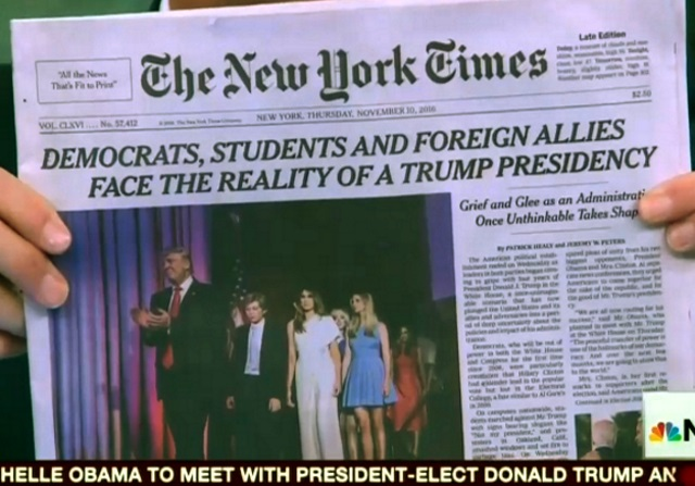 NY Times almost outdoes parody with actual post-election headline