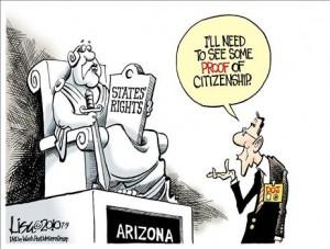 STATES RIGHTS AND ARIZONA, OBAMACARTOON[1]