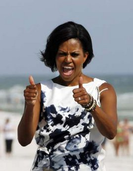 "Fashion flashback:Compassionate Lady Bountiful Michelle-Antoinette ""tastefully"" dressed for distress and disaster"