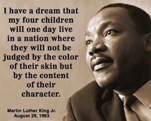 MLK, character not color