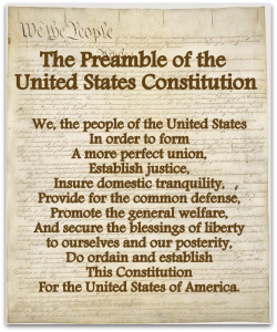 "U.S. Constitution: The Preamble-""We the people…."""