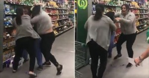 Admirable Americans fighting over the last roll of toilet paper on the shelves.