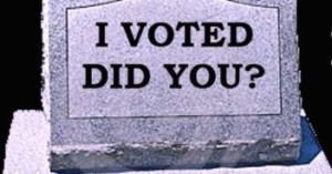 Vote from dead