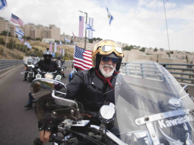Jerusalem, bikers for Trump